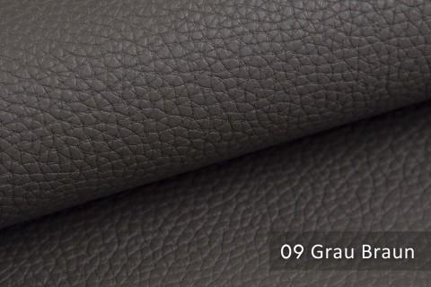 novely® BINAU luxuriöser hochwertiger Mix aus Kunstleder und Echtleder-Fasern 09 Grau Braun