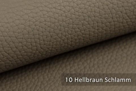 novely® BINAU luxuriöser hochwertiger Mix aus Kunstleder und Echtleder-Fasern 10 Hellbraun Schlamm