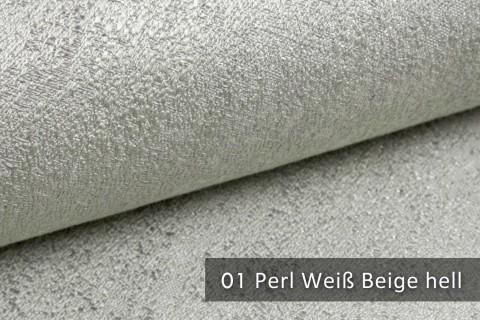 novely® exquisit BRIVIO – prunkvoller und eleganter Möbelstoff  | 01 Perl Weiß Beige hell