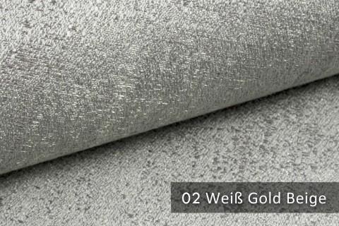 novely® exquisit BRIVIO – prunkvoller und eleganter Möbelstoff  |  02 Weiß Gold Beige