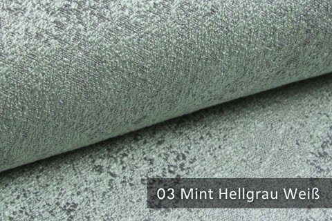 novely® exquisit BRIVIO – prunkvoller und eleganter Möbelstoff  | 03 Mint Hellgrau Weiß