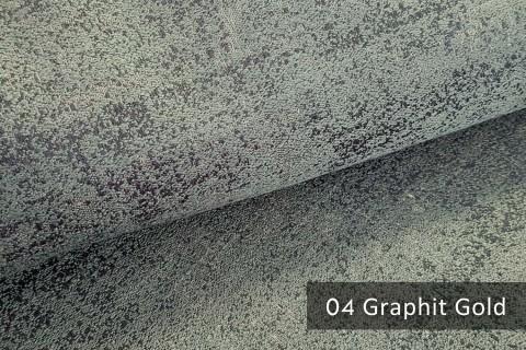 novely® exquisit BRIVIO – prunkvoller und eleganter Möbelstoff  | 04 Graphit Gold