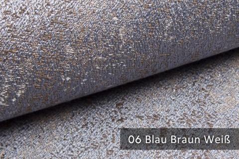 novely® exquisit BRIVIO – prunkvoller und eleganter Möbelstoff  | 06 Blau Braun Weiß