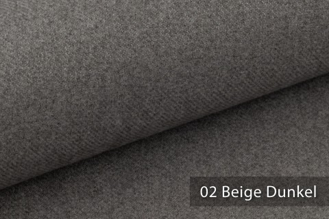 novely® exquisit CALMI Stoff Woll-Optik meliert | Polsterstoff schwer entflammbar | 02 Beige Dunkel