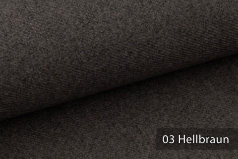 novely® exquisit CALMI Stoff Woll-Optik meliert | Polsterstoff schwer entflammbar | 03 Hellbraun