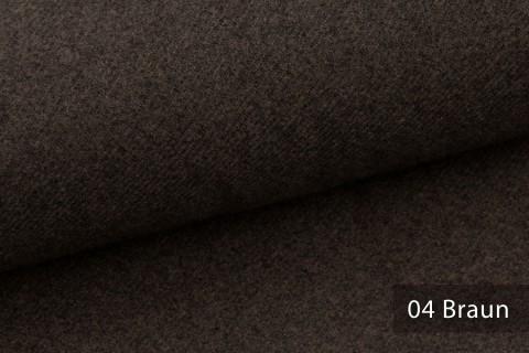 novely® exquisit CALMI Stoff Woll-Optik meliert | Polsterstoff schwer entflammbar | 04 Braun