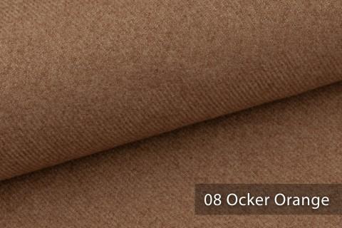 novely® exquisit CALMI Stoff Woll-Optik meliert | Polsterstoff schwer entflammbar | 08 Ocker Orange