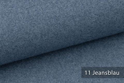 novely® exquisit CALMI Stoff Woll-Optik meliert | Polsterstoff schwer entflammbar | 11 Jeansblau