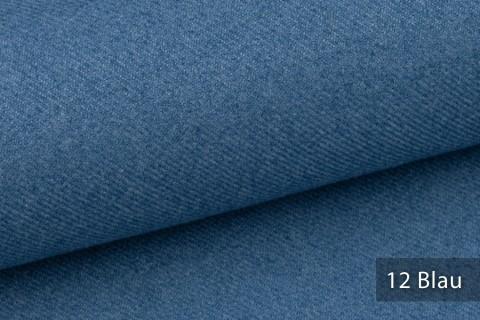 novely® exquisit CALMI Stoff Woll-Optik meliert | Polsterstoff schwer entflammbar | 12 Blau