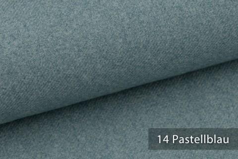novely® exquisit CALMI Stoff Woll-Optik meliert | Polsterstoff schwer entflammbar | 14 Pastellblau