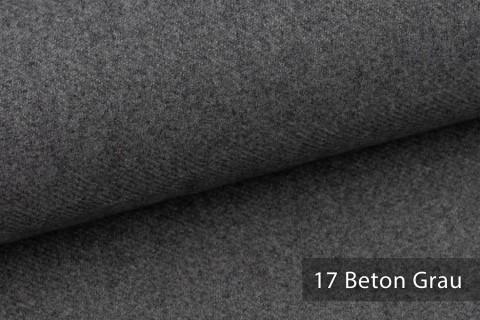 novely® exquisit CALMI Stoff Woll-Optik meliert | Polsterstoff schwer entflammbar | 17 Beton Grau