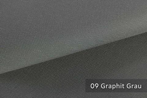 novely® exquisit CAPRI – wasserdichter Outdoor-Möbelstoff mit leichtem Glanz | 09 Graphit Grau