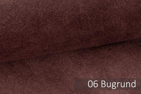 novely® COUEN VINTAGE Soft-Velours Antik | Vintage Möbelstoff Polsterstoff | Mediterraner Styl | 06 Burgund