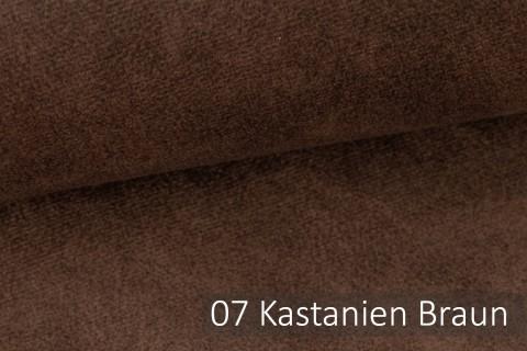 novely® COUEN VINTAGE Soft-Velours Antik | Vintage Möbelstoff Polsterstoff | Mediterraner Styl | 07 Kastanien Braun