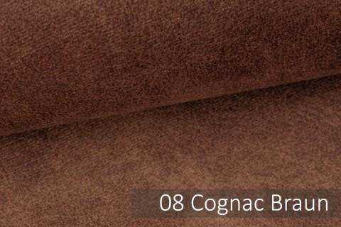 novely® COUEN VINTAGE Soft-Velours Antik | Vintage Möbelstoff Polsterstoff | Mediterraner Styl | 08 Cognac Braun