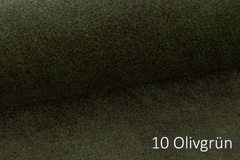 novely® COUEN VINTAGE Soft-Velours Antik | Vintage Möbelstoff Polsterstoff | Mediterraner Styl | 10 Olivgrün