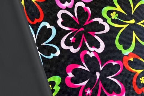 novely® OXFORD 600D Polyester Stoff Waterproof Outdoor Wasserdicht | D48 Blumen Flowers