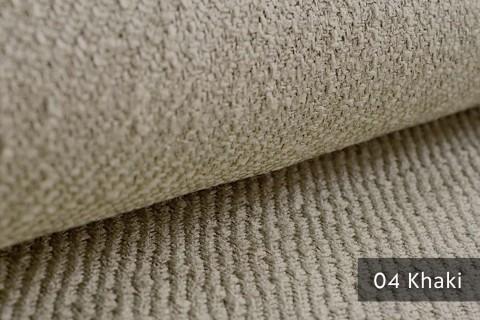 novely® exquisit DECORETTO - weicher Polsterstoff in Naturfaserlook mit ULTRA-CLEAN Technologie, schwer entflammbar | 04 Khaki