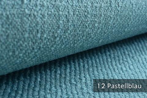novely® exquisit DECORETTO - weicher Polsterstoff in Naturfaserlook mit ULTRA-CLEAN Technologie, schwer entflammbar | 12 Pastellblau
