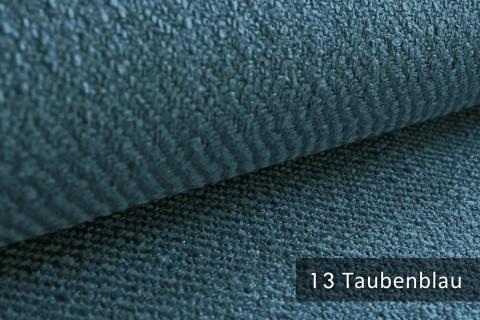 novely® exquisit DECORETTO - weicher Polsterstoff in Naturfaserlook mit ULTRA-CLEAN Technologie, schwer entflammbar | 13 Taubenblau