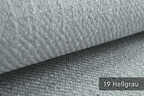 novely® exquisit DECORETTO - weicher Polsterstoff in Naturfaserlook mit ULTRA-CLEAN Technologie, schwer entflammbar | 19 Hellgrau