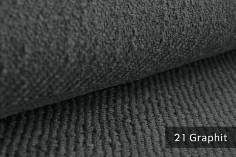 novely® DECORETTO anschmiegsamer Polsterstoff im Naturfaser Look ULTRA-CLEAN | schwer entflammbar | 21 Graphit