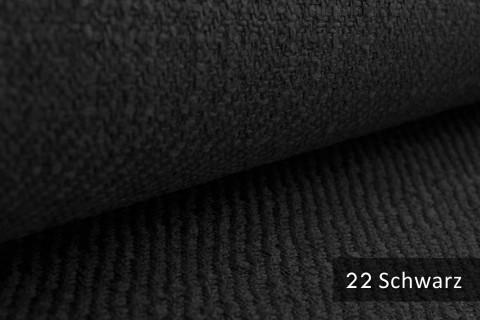 novely® exquisit DECORETTO - weicher Polsterstoff in Naturfaserlook mit ULTRA-CLEAN Technologie, schwer entflammbar | 22 Schwarz