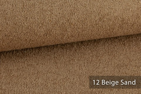 novely® exquisit DOLORES Bouclé gemütlicher Polsterstoff mit Effektgarn | 12 Beige Sand