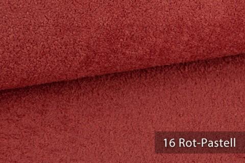 novely® exquisit DOLORES Bouclé gemütlicher Polsterstoff mit Effektgarn | 16 Rot-Pastell