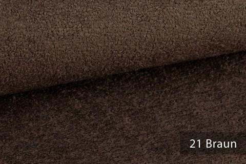 novely® exquisit DOLORES Bouclé gemütlicher Polsterstoff mit Effektgarn | 21 Braun
