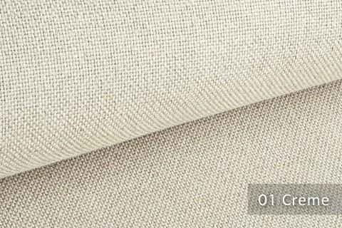 novely® ERFURT eleganter Möbelstoff ULTRA CLEAN der Extraklasse | schwer entflammbar | 01 Creme