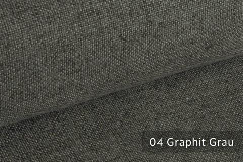 novely® ERFURT eleganter Möbelstoff ULTRA CLEAN der Extraklasse | schwer entflammbar | 04 Graphit Grau