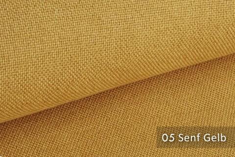 novely® ERFURT eleganter Möbelstoff ULTRA CLEAN der Extraklasse | schwer entflammbar | 05 Senf Gelb
