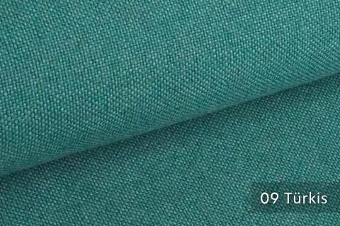 novely® ERFURT eleganter Möbelstoff ULTRA CLEAN der Extraklasse | schwer entflammbar | 09 Türkis