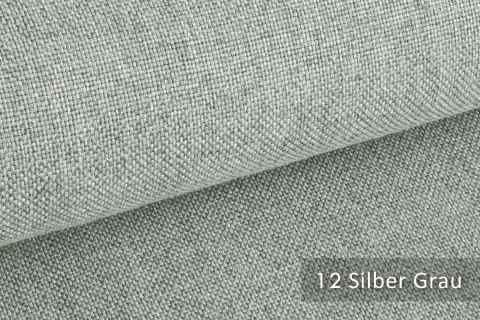 novely® ERFURT eleganter Möbelstoff ULTRA CLEAN der Extraklasse | schwer entflammbar | 12 Silber Grau