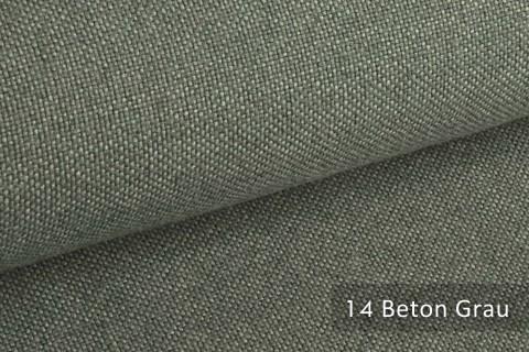 novely® ERFURT eleganter Möbelstoff ULTRA CLEAN der Extraklasse | schwer entflammbar | 14 Beton Grau