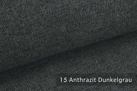 novely® ERFURT eleganter Möbelstoff ULTRA CLEAN der Extraklasse | schwer entflammbar | 15 Anthrazit Dunkelgrau
