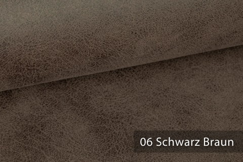 novely® EXQUISIT ETERNITY Vintage Antik Polsterstoff Velours- Kunstleder | Schwer entflammbar | 06 Schwarz Braun