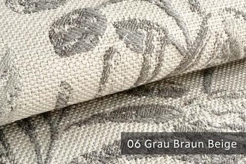 novely® exquisit FLORENZ – geschmackvoller, blumiger Polsterstoff | 06 Grau Braun Beige