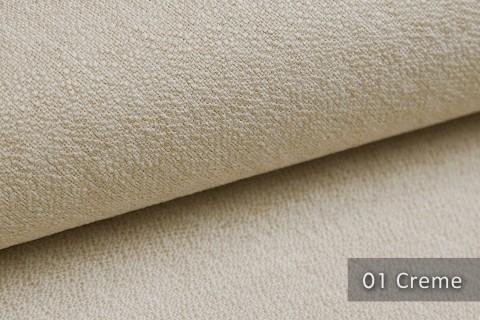 novely® GONZO robuster Möbelstoff in feiner Bouclé Optik | Ultra-Clean-Effekt | 01 Creme