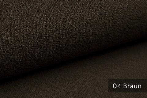 novely® GONZO robuster Möbelstoff in feiner Bouclé Optik | Ultra-Clean-Effekt | 04 Braun