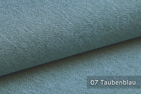 novely® GONZO robuster Möbelstoff in feiner Bouclé Optik | Ultra-Clean-Effekt | 07 Taubenblau