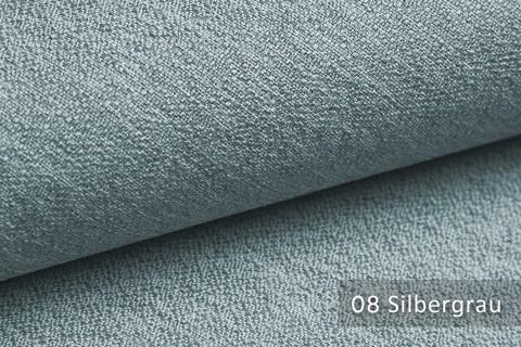 novely® GONZO robuster Möbelstoff in feiner Bouclé Optik | Ultra-Clean-Effekt | 08 Silbergrau