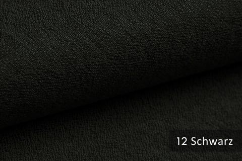 novely® GONZO robuster Möbelstoff in feiner Bouclé Optik | Ultra-Clean-Effekt | 12 Schwarz