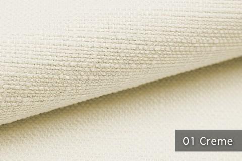 novely® GOTHA leicht grob gewebter Polsterstoff Möbelstoff | Farbe 01 Creme