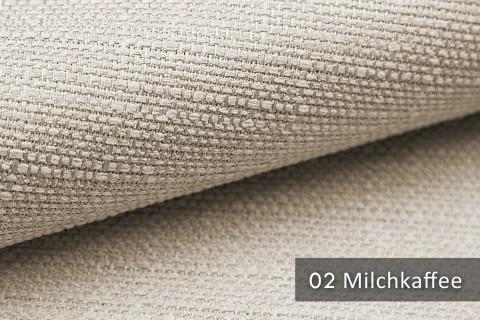 novely® GOTHA leicht grob gewebter Polsterstoff Möbelstoff | Farbe 02 Milchkaffee