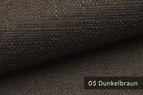 novely® GOTHA leicht grob gewebter Polsterstoff Möbelstoff | Farbe 05 Dunkelbraun