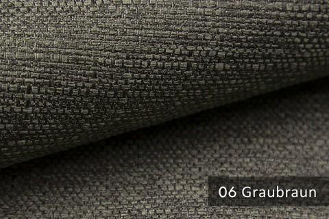 novely® GOTHA leicht grob gewebter Polsterstoff Möbelstoff | Farbe 06 Graubraun