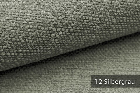 novely® GOTHA leicht grob gewebter Polsterstoff Möbelstoff | Farbe 12 Silbergrau