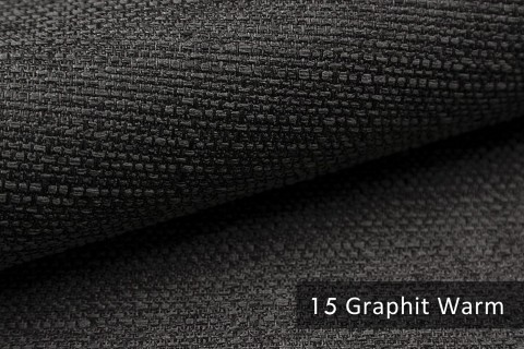 novely® GOTHA leicht grob gewebter Polsterstoff Möbelstoff | Farbe 15 Graphit warm